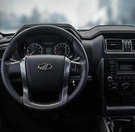 Vista frontal asiento conductor